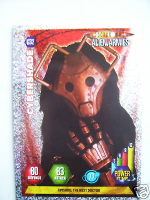 Doctor Who Alien Armies Cybershade G32 Card