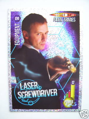 Doctor Who Alien Armies Laser Screwdriver G10 Card