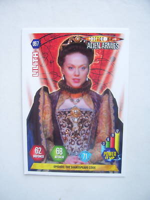 Doctor Who Alien Armies Lilth 67 Card