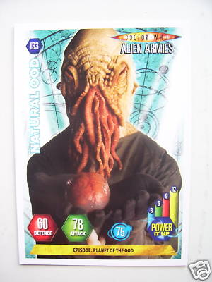 Doctor Who Alien Armies Natural Ood 133  Card