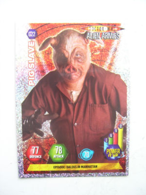 Doctor Who Alien Armies Pig Slave G22 Card