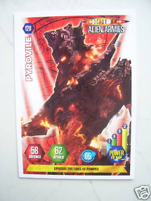 Doctor Who Alien Armies Pyrovile 128 Card