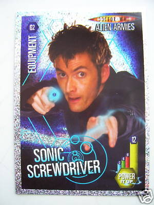 Doctor Who Alien Armies Sonic Screwdriver G2 Card