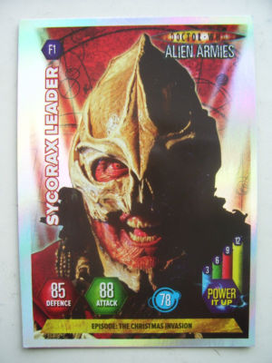 Doctor Who Alien Armies Sycorax Leader F1 Card