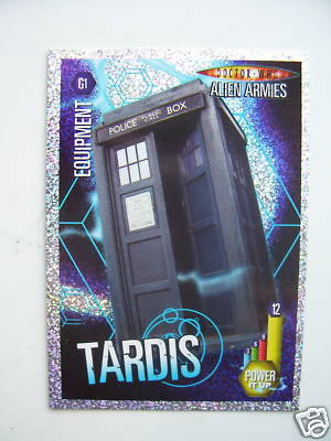 Doctor Who Alien Armies Tardis G1 Card