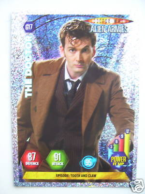 Doctor Who Alien Armies The Doctor G17 Card