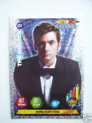 Doctor Who Alien Armies The Doctor G34 Card