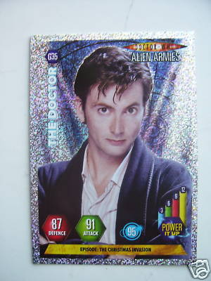 Doctor Who Alien Armies The Doctor G35 Card
