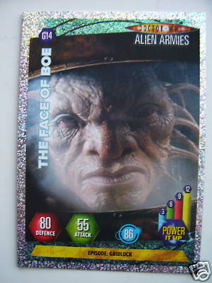 Doctor Who Alien Armies The Face of Boe G14 Card