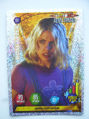 Doctor Who Alien Armies The Rose Tyler G11 Card