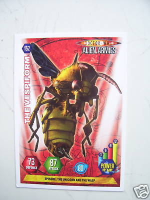 Doctor Who Alien Armies The Vespiform 152 Card