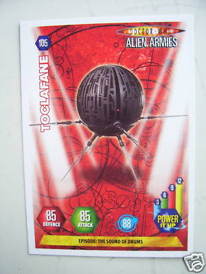 Doctor Who Alien Armies Toclafane 105 Card
