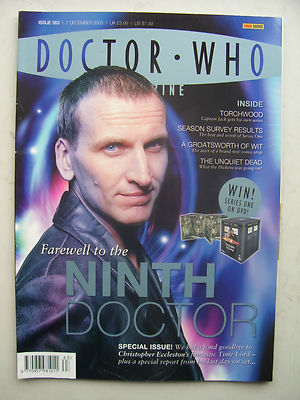Doctor Who Magazine Issue 363 Farewell to the Ninth Doctor Rare