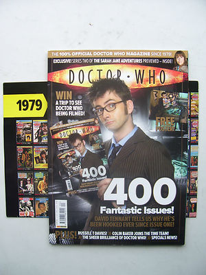 Doctor Who Magazine issue 400 Fantastic Issues Poster Included