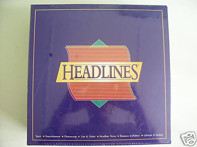 Headlines Board Game  New / Sealed (Very Rare)