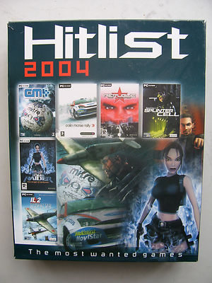 Hit list Collection 2004 Tomb Raider, Splinter Cell Plus More PC Very Rare