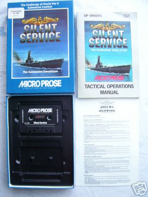 Silent Service Commodore 64 VERY RARE Classic Game