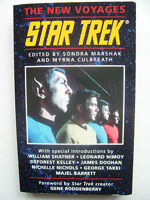Star Trek Book The New Voyages  RARE