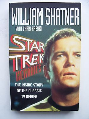 Star Trek Memories William Shatner  Paperback Book