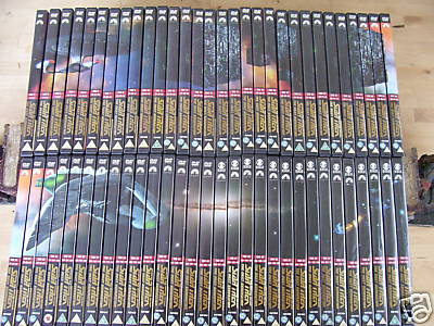 Star Trek New Generation 60 DVD's in mosaque Pic + Mags