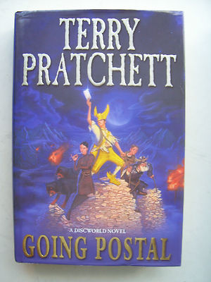 Terry Pratchett Going Postal  A Discworld Novel  Large Hardback Book