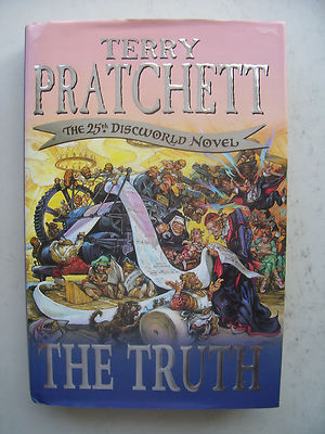 Terry Pratchett The Truth  The 25th Discworld Novel Large Hardback Book