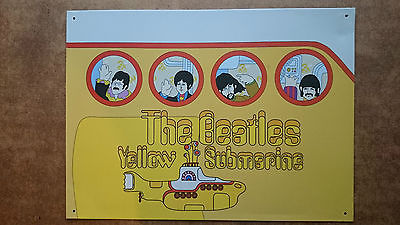 The Beatles Yellow Submarine Metal wall Plaque by Subafilms 2004