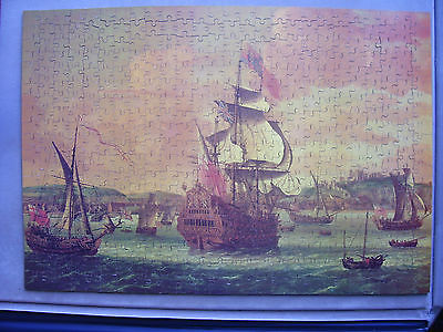 Charles 2 on Board a Two Decker Man o' War  500 WOODEN Piece Jigsaw Puzzle