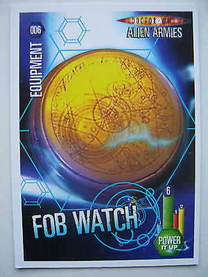 Doctor Who Alien Armies Fob Watch 006 Card