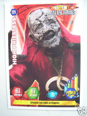 Doctor Who Alien Armies High Priestess 129 Card