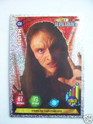 Doctor Who Alien Armies Lilith G38 Card