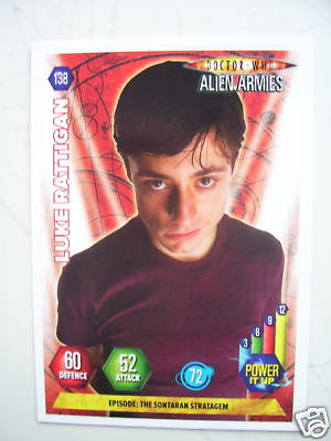 Doctor Who Alien Armies Luke Rattigan 138 Card