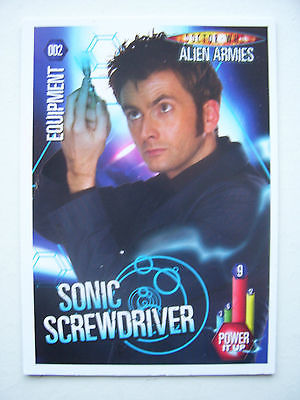 Doctor Who Alien Armies Sonic Screwdriver  002 Card