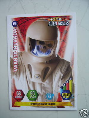 Doctor Who Alien Armies Vashta Nerada 160 Card