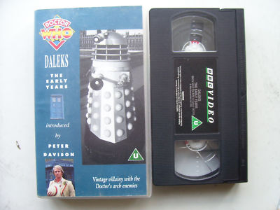 Doctor Who Daleks Early Years, Master Plan and Evil of the Daleks  RARE