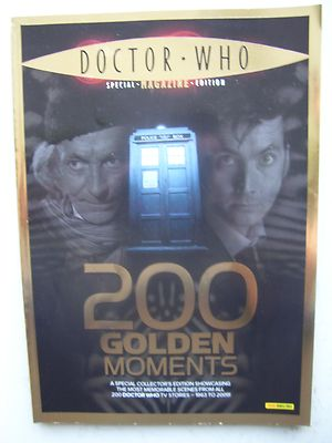 Doctor Who Magazine 200 Golden Moments Special Edition Rare