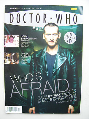 Doctor Who Magazine issue 357 Who's afraid? Rare