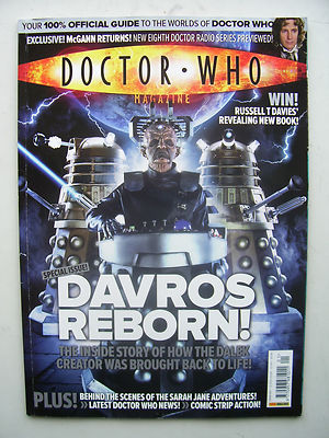 Doctor Who Magazine issue 401 Davros Reborn