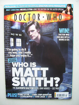 Doctor Who Magazine issue 405 Who is Matt Smith