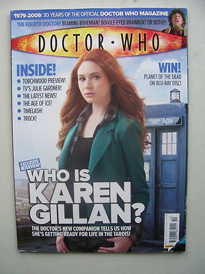 Doctor Who Magazine issue 410 Who is Karen Gillan? Rare