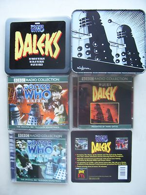 Doctor Who Power of the Daleks and Evil of the Daleks CD Audio Tin Set  RARE