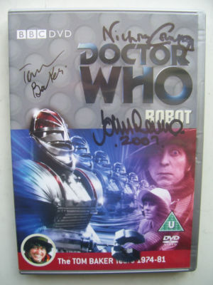 Doctor Who Robot   DVD Signed by Three Main Characters