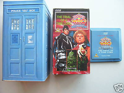 Doctor Who The Trial Of A Time Lord Tardis Tin Set