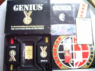 Guinness Game or Records (Genius)  Board Game.