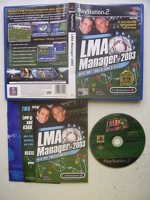 LMA Manager 2003 PS2 Game