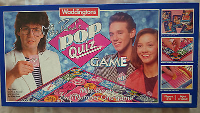 Mike Reads Pop Quiz Game By Waddingtons 1985