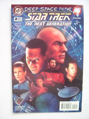 Star Trek The Next Generation Deep Space Nine  DC  Comic Issue 2 Very Rare