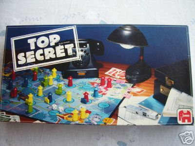 Top Secret   Board Game  By Jumbo  (V Rare)