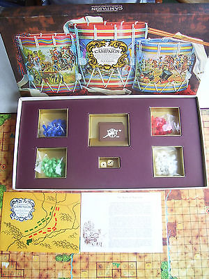 Vintage Campaign Board Game By Waddington's 1971