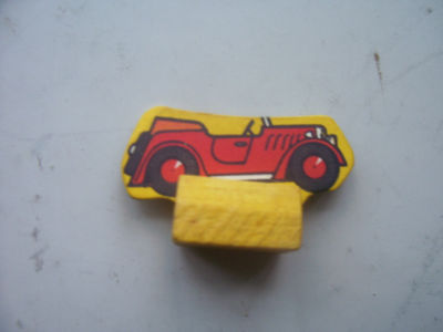 Vintage Monopoly Car Wooden and Card Playing Piece 1940s Edition
